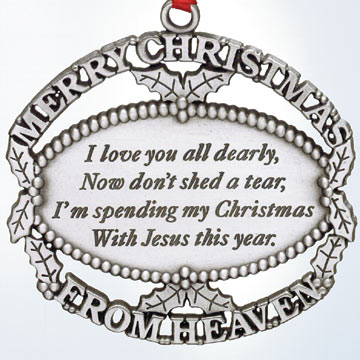 Ewwwww. I got a Jesus Crap catalog at work today with this terrifying Christmas  ornament in it: - Going Jesus